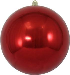 "Christmas by Krebs Giant Commercial Shatterproof UV Resistant Plastic Christmas Ball Ornament, 12"" (300mm), Sonic Red"