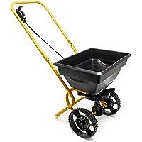 WilTec Epandeur engrais/sel/sable/semences 25kg avec pneus en matière plastique