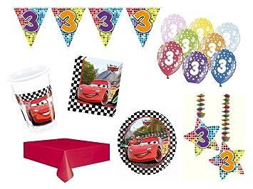 Party Set Vajilla para Fiesta 3. Cumpleaños Cars Formula 46 ...