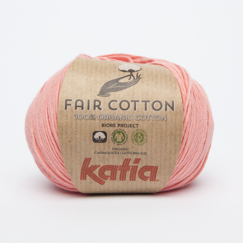 NEUHEIT 2017 50g Katia Fair Cotton Farbe 6 koralle 100/% organischer Baumwolle hoher Qualit/ät