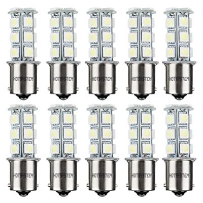 HOTSYSTEM 1156 7506 1003 1141 LED SMD 18 LED Bulbs Interior RV Camper Cool White 10-pack: Automotive