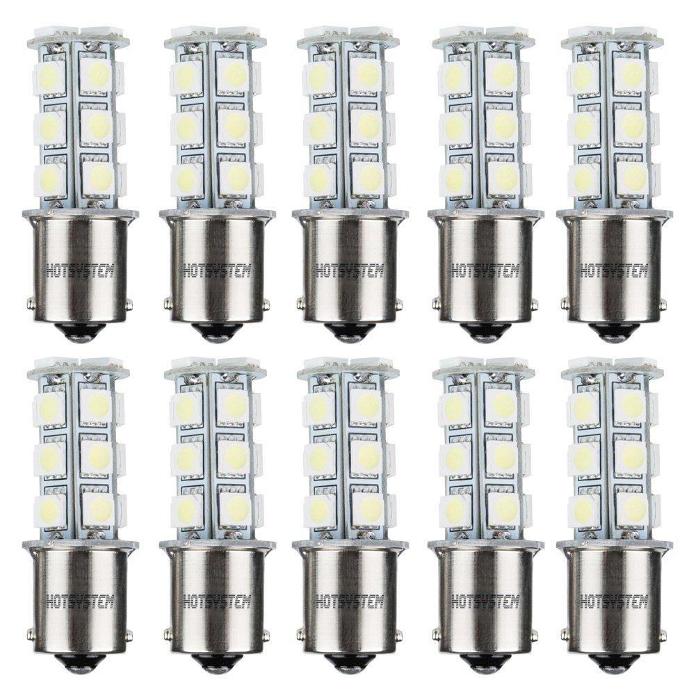HOTSYSTEM 1156 7506 1003 1141 LED SMD 18 LED Bulbs Interior RV Camper White 2-pack FBA_HS-C00879A1x2+W3-2