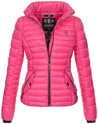 Navahoo Premium Damen Jacke Steppjacke Übergangsjacke gesteppt Stepp Kapuze B676