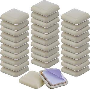 36 Pieces 1 Furniture Sliders for Carpet Sliders 1 Inch Furniture Glides Moving Sliders Pads for Carpet (Square)