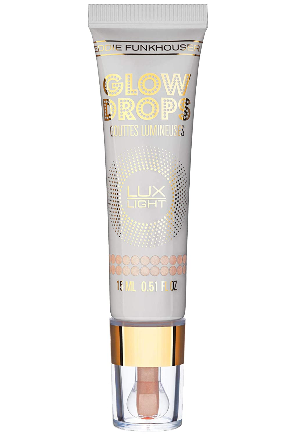 EDDIE FUNKHOUSER Luxlight Glow Drops Liquid Highlighter Makeup, Illuminator for Radiant Skin