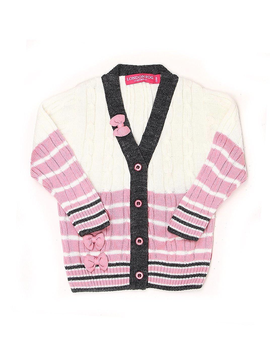 fa5e9e07f London Fog Infant Girls Casual Sweater( 8907174032337 White 0-6 ...