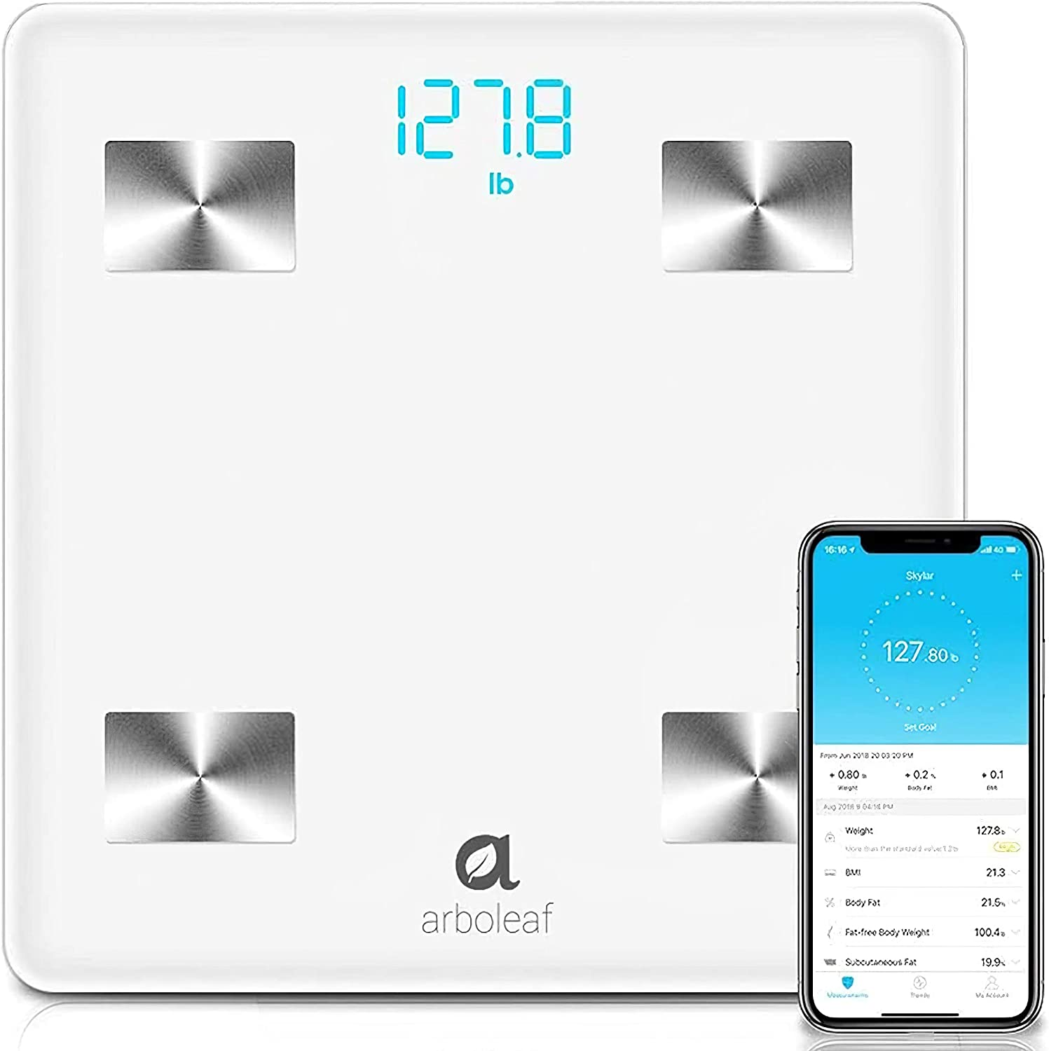 Arboleaf Digital Scale Seasonal Wrap Introduction Bluetooth Smart Body for Scales We Special price