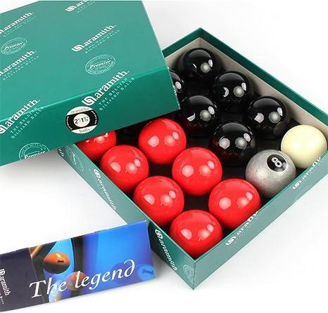 EXCLUSIVA! Aramith Premier SILVER 8 BALL edición rojo y negro ...