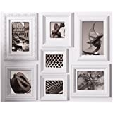 nexxt Fuse Collage Picture Frame, 18 by 24- Inch, 7 opening, White