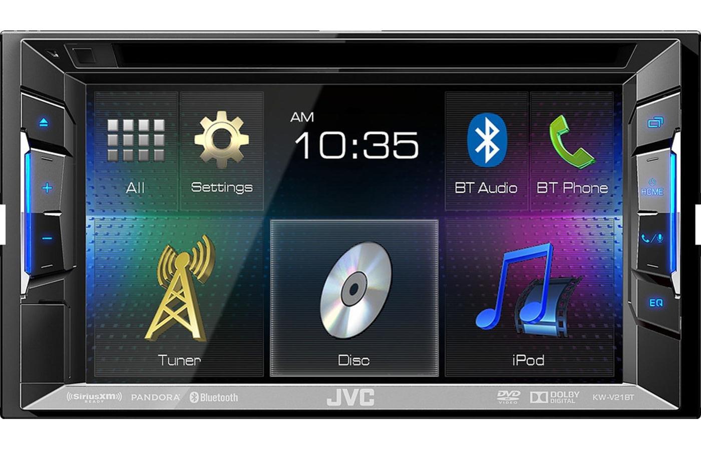 JVC KW-V21BT 6.2'' CD MP3 DVD IPOD USB PANDORA BLUETOOTH STEREO (Certified Refurbished)
