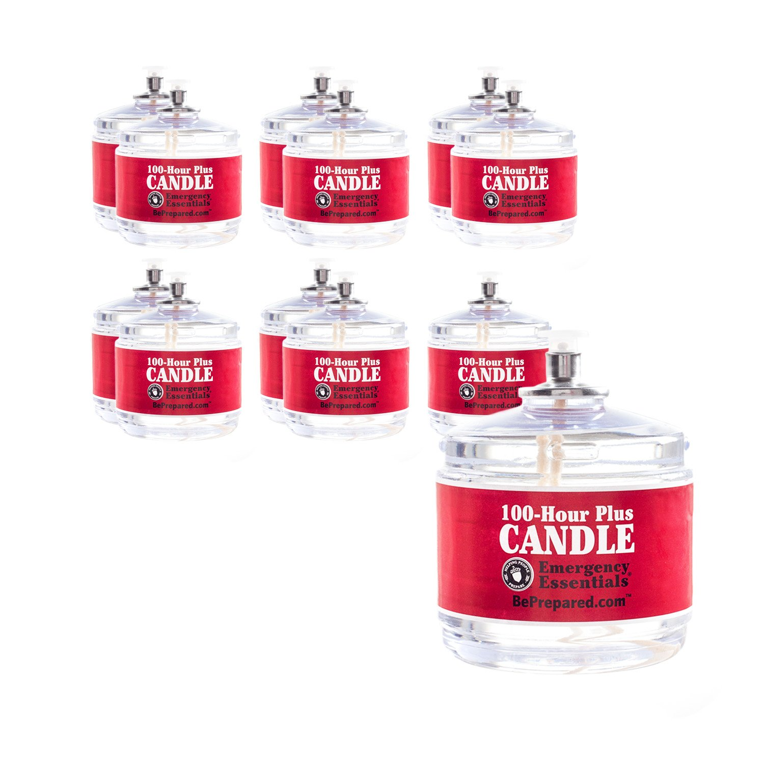 100 Hour Plus Emergency Candle, Clear Mist - Set of 12 Survival Candles