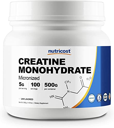 Nutricost Creatine Monohydrate Micronized Powder 500G, 5000mg Per Serv – Pure Micronized Creatine Monohydrate