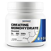 Nutricost Creatine Monohydrate Micronized Powder 500G, 5000mg Per Serv - Pure Micronized...