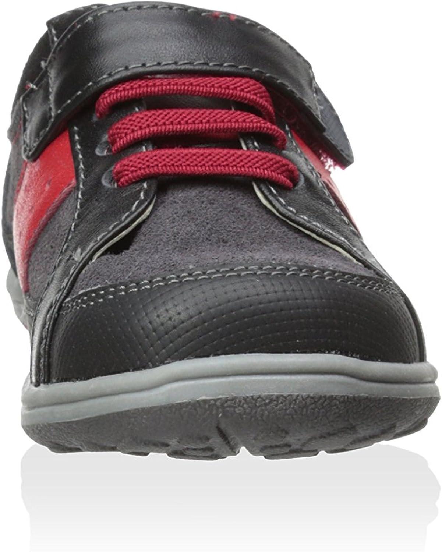 See Kai Run Boys Macadam Contrast Stripe Suede Sneakers Black 11.5
