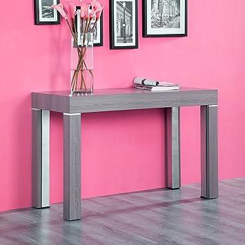 Ego Design Table Console Extensible Stacy Bois Gris 3m Amazon Fr