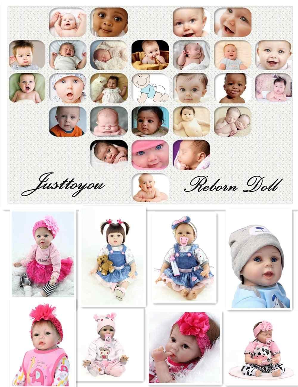 Amazon.com : Justtoyou Soft Silicone Reborn Baby Dolls Reborn Dolls ...