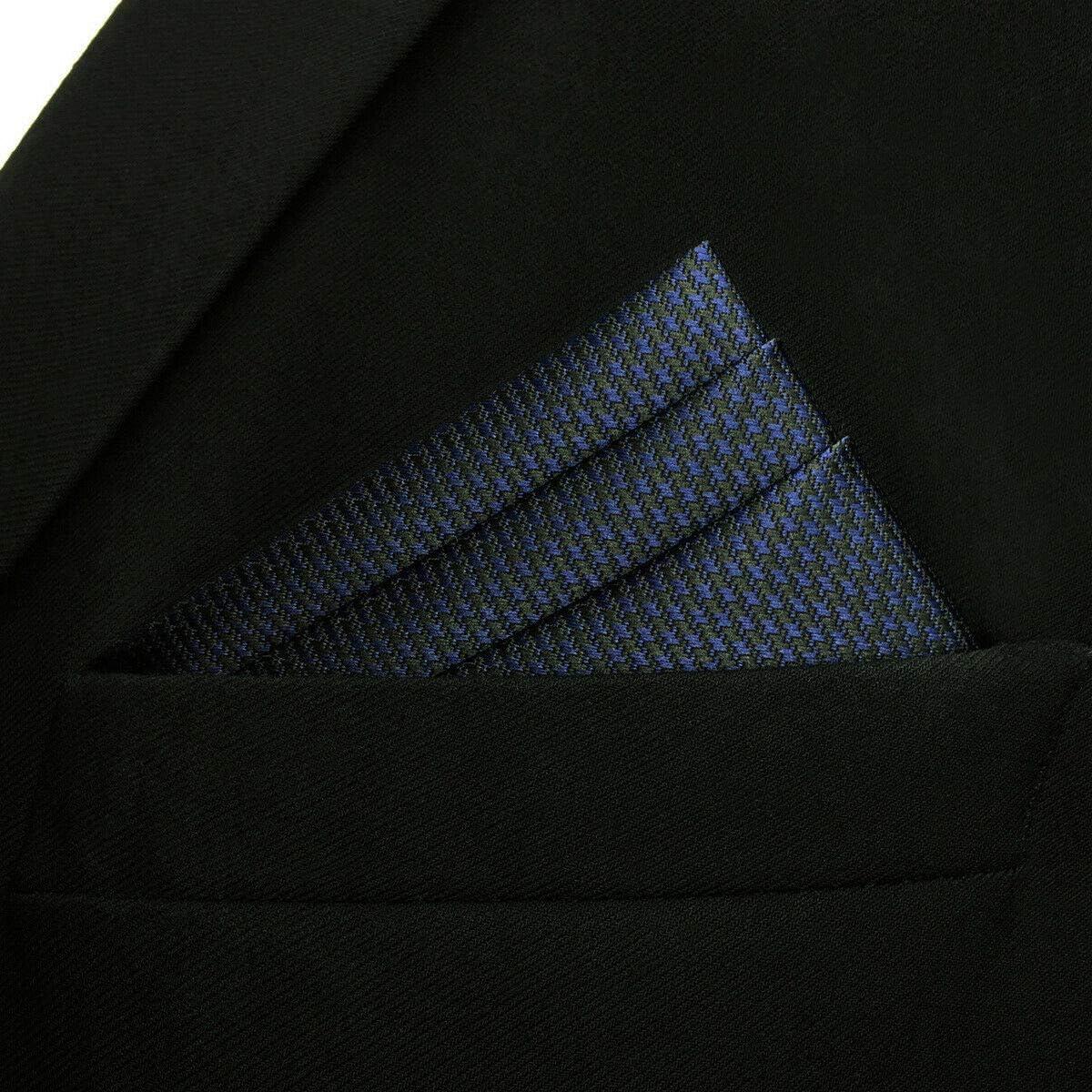 S/&W SHLAX/&WING Solid Blau Einsteckt/ücher Mens Gesch/äftsanzug Herren Seide