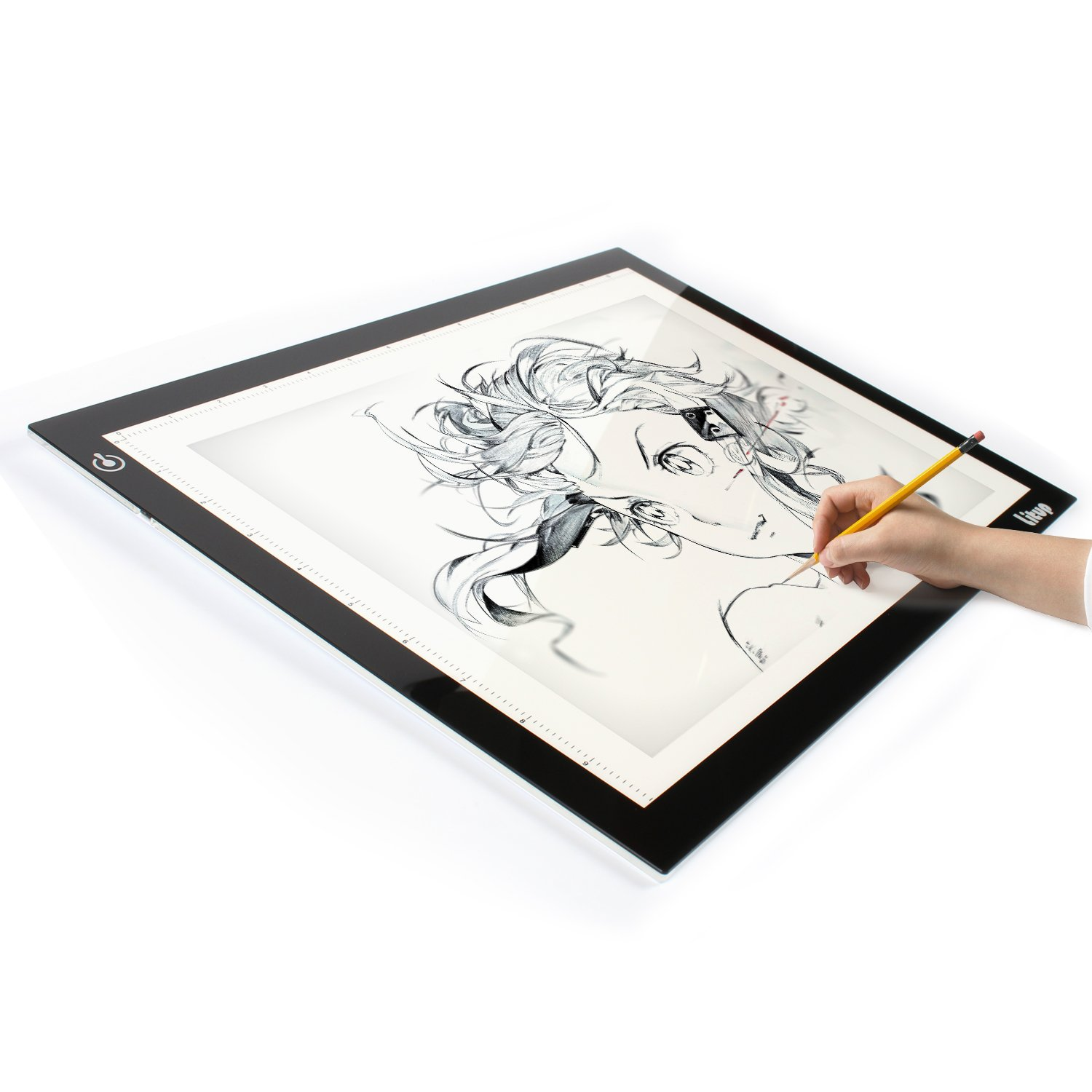 Litup Light Box Light Pad L15.63''x W11.81'' Tracing Light Box Drawing Light Board Light Table for Animation Sketching Artcraft- LP-B4