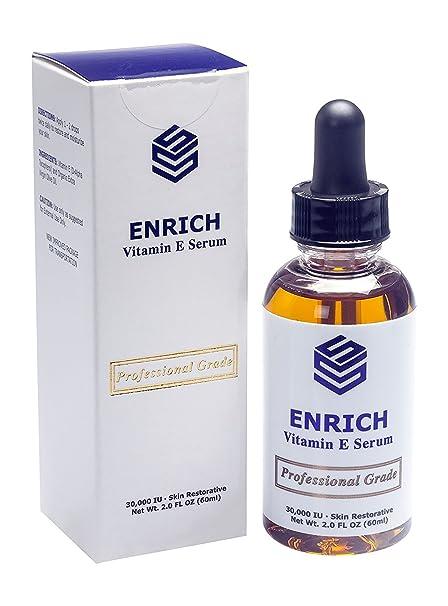 Enriquecer Natural & Orgánico Vitamina E Aceite 30.000 UI con w/Oliva Virgen Extra oil