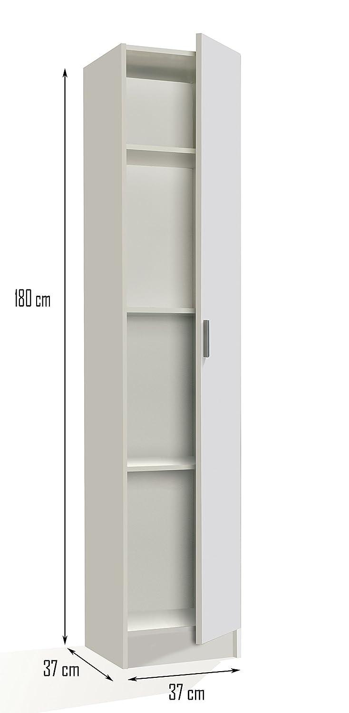 Multi Narrow White Universal Utility Storage Cupboard 1P By ...