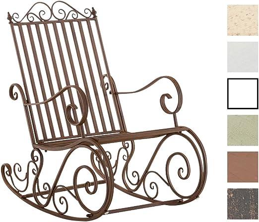 Mecedora De Hierro Smilla I Mecedora Relax De Jardín I Mecedora De Exterior En Estilo Rústico I Sillón Mecedora De Balcón o Terraza I Color:, Color:marrón: Amazon.es: Jardín