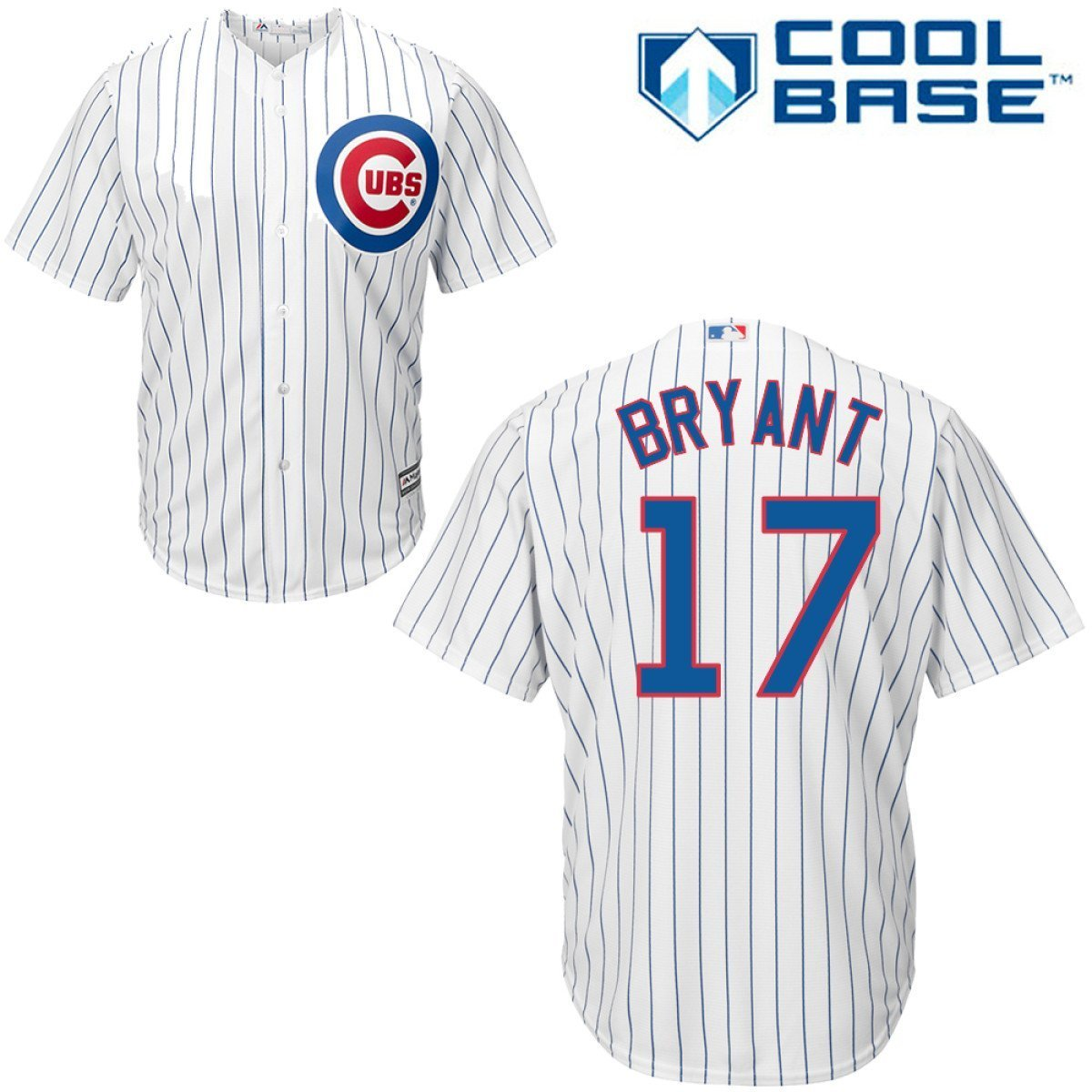 best website a6c75 a3ddd Kris Bryant Chicago Cubs #17 MLB Men's Cool Base Home Jersey ...