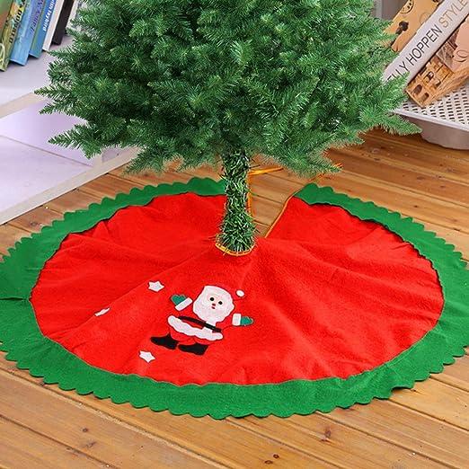 Surenhap Falda del Árbol Navidad 90 cm Cubierta de árbol de ...