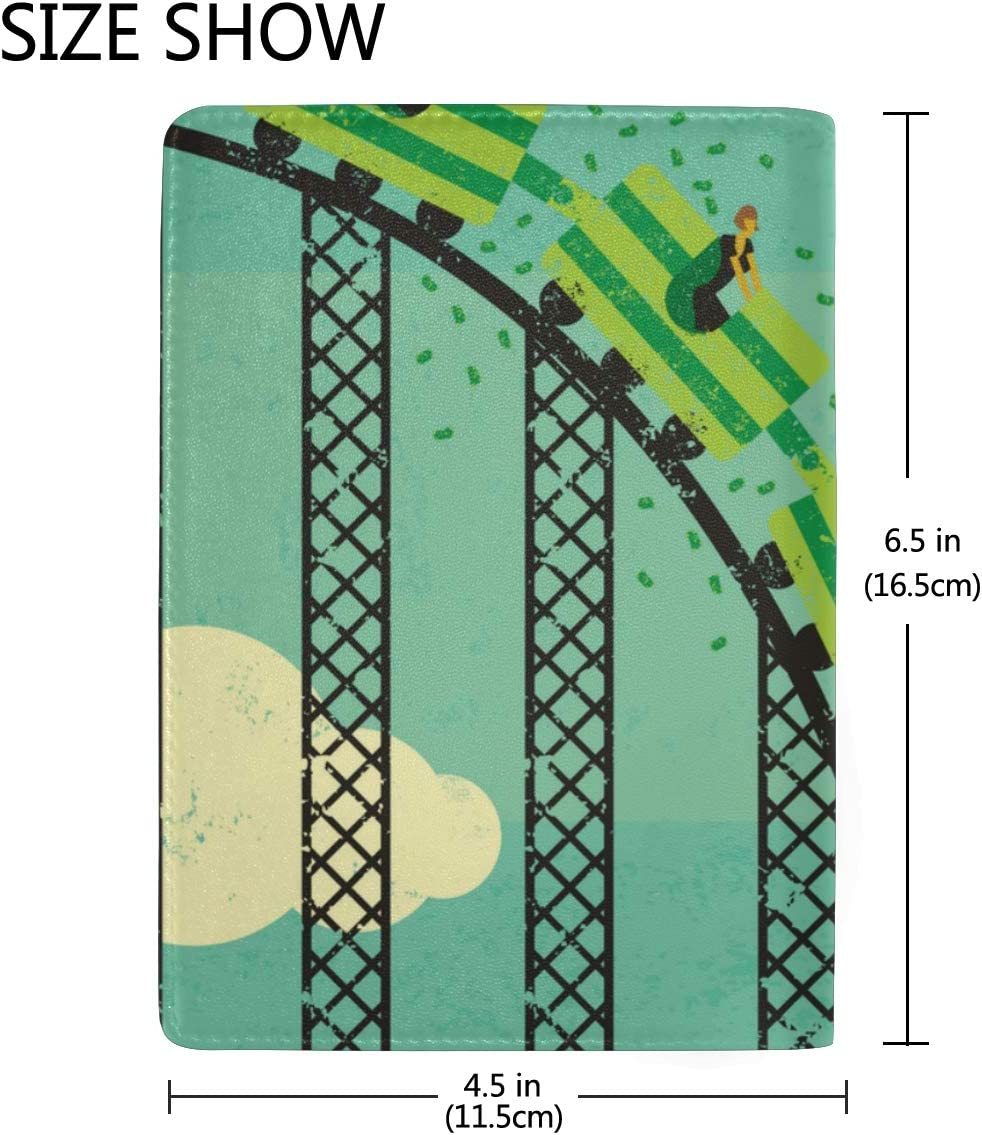 Passport Cover A Thrilling Game Roller Coaster Stylish Pu Leather Travel Accessories Women Passport Case For Women Men