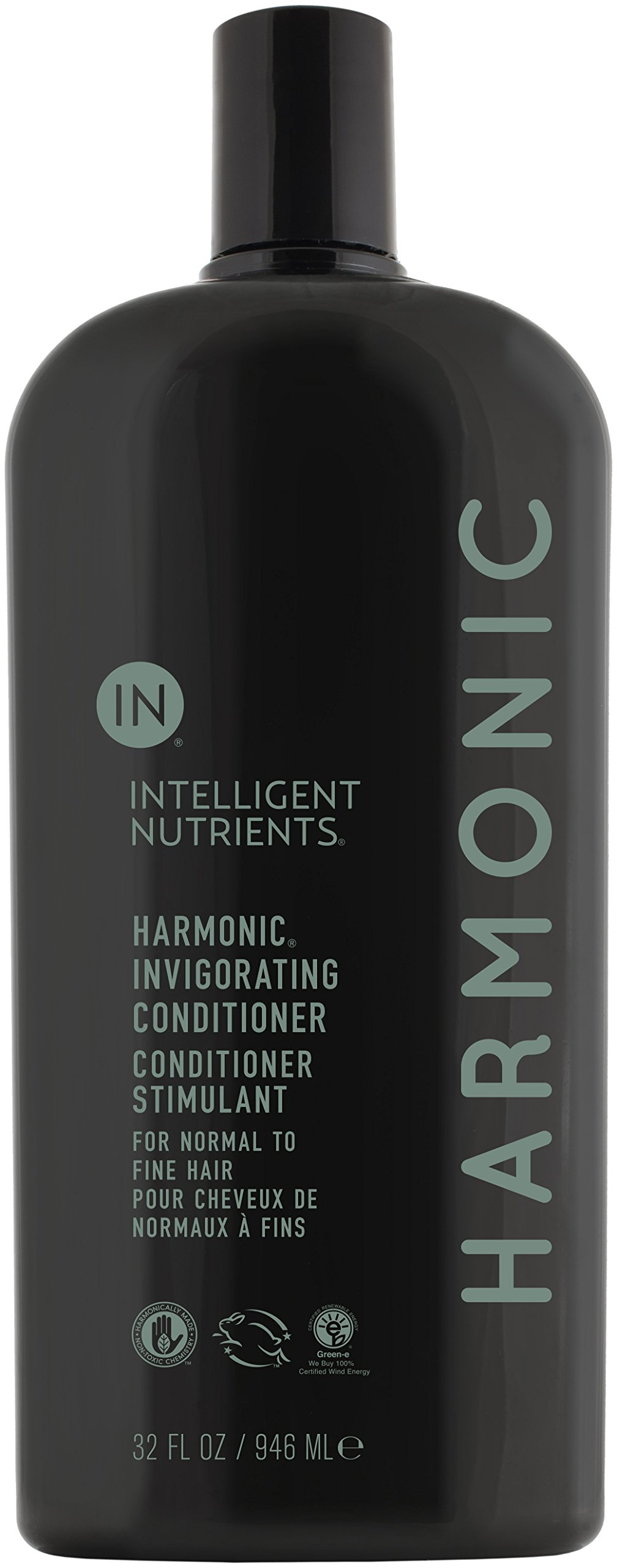 Intelligent Nutrients Environmental Size Harmonic Invigorating Conditioner - Hydrating, Non-Toxic Conditioner with Peppermint & Spearmint Oil - New Look, Same Tingle (32 oz) by Intelligent Nutrients