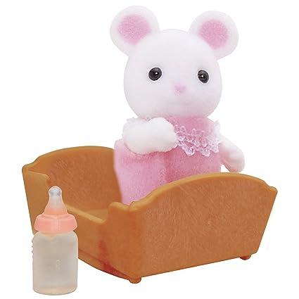 SYLVANIAN FAMILIES- White Mouse Baby Mini Muñecas y Accesorios, (Epoch para Imaginar 5069)