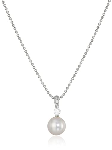 "f5fdb7a7d TARA Pearls ""Dancing Diamond"" 18k Gold Akoya Cultured Pearl and Diamond  Pendant ("