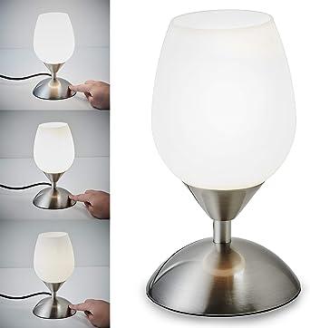 Lámpara de mesa táctil máx. 40W E14, Altura: 195 mm, 4 niveles de ...