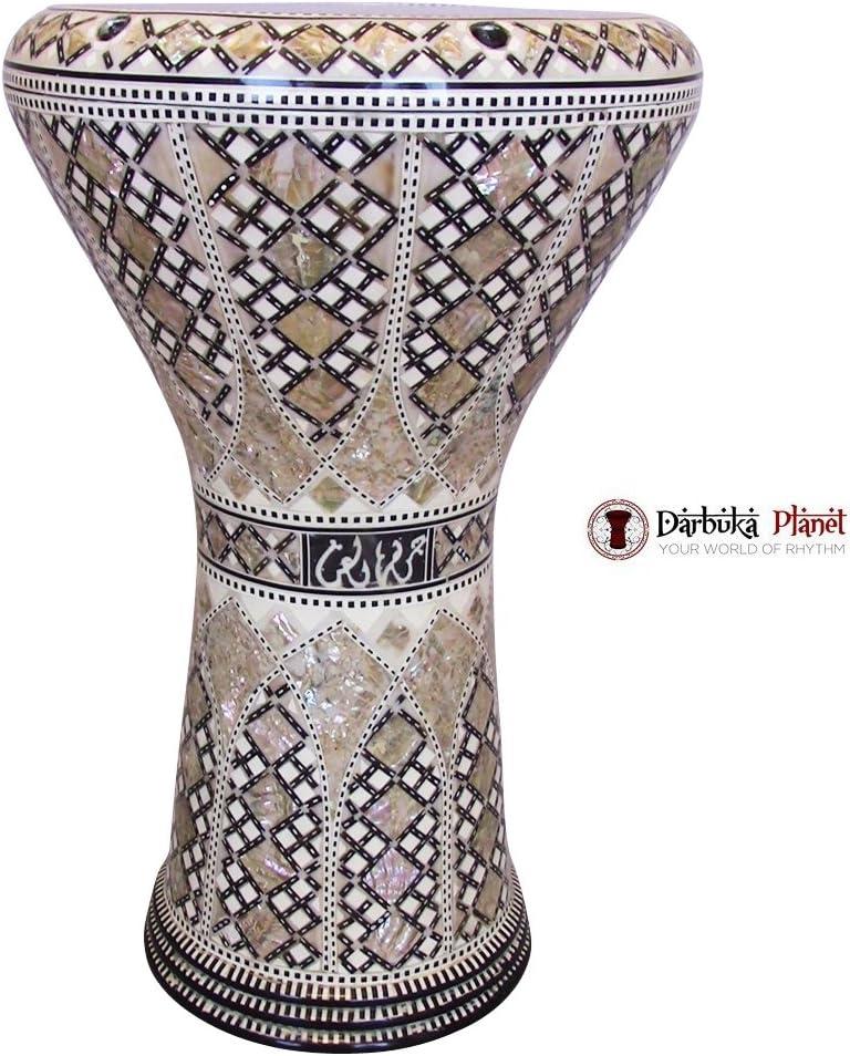 M42 19 inches Blue mother of Pearl Drum Darbuka tabla doumbek Gawharet El Fan musical instrument Egyptian handmade