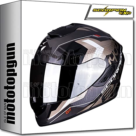 SCORPION 14-258-61 CASCO MOTO INTEGRAL EXO-1400 AIR TRIKA ORO-