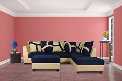 Guaranteed Upholstered L-Shape 5 Seater Sofa Cum Bed (3+D+2P) Sofa ...