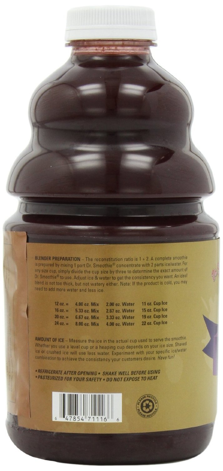 Dr. Smoothie Classic Four Berry Blends Smoothie Concentrate 46oz. 6 pack