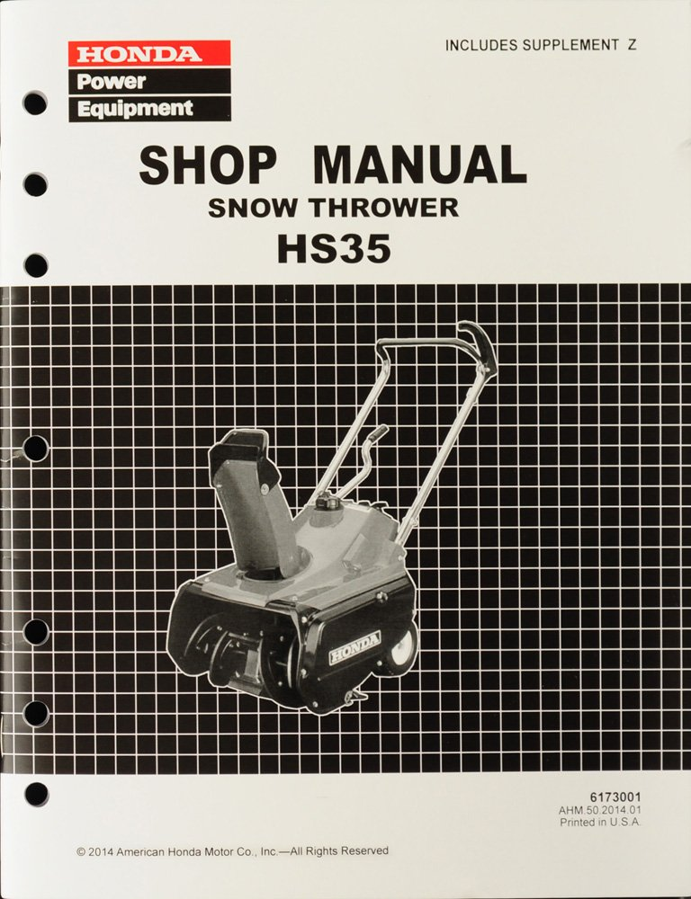 Amazon Honda Hs35 Snow Blow Throw Service Repair Shop Manual