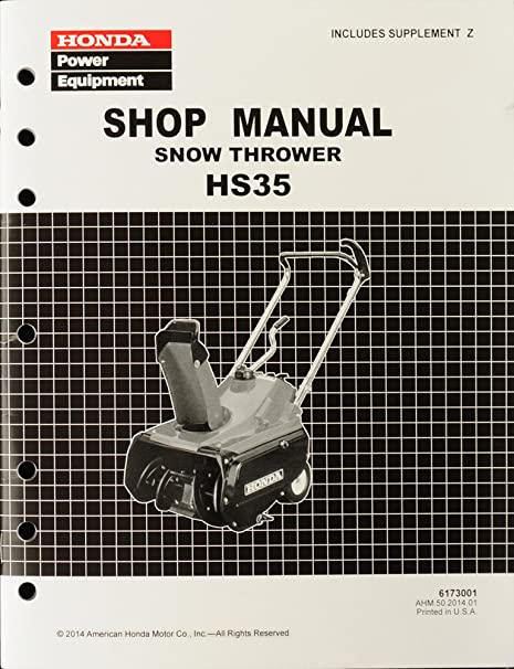 amazon com honda hs35 snow blow throw service repair shop manual rh amazon com honda hs35 snowblower repair manual honda hs35 snowblower repair manual