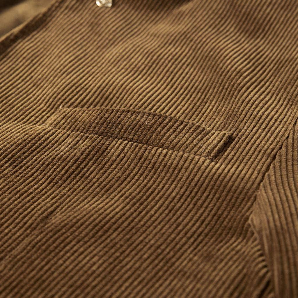 Abito da Uomo Velluto a Coste Giacche Casuale Caldo Blazers Doppiopetto Retro Giacca Cappotto Zolimx-Giacca Uomo in Pile Blazer Uomo Elegante per Blazer da Uomo