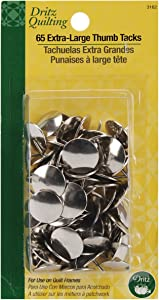 Dritz 3162 Quilter's Thumb Tacks with Extra Large Heads (65-Count)