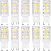 10Pcs G9 LED Bulbs, Silicone Material High Brightness 33LED Light Lamps 3W Landscape Bulbs LED for Home Ceiling Light…