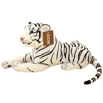 Amazon Com Jesonn Stuffed Tiger Plush Toy 13 5 Inch White Toys