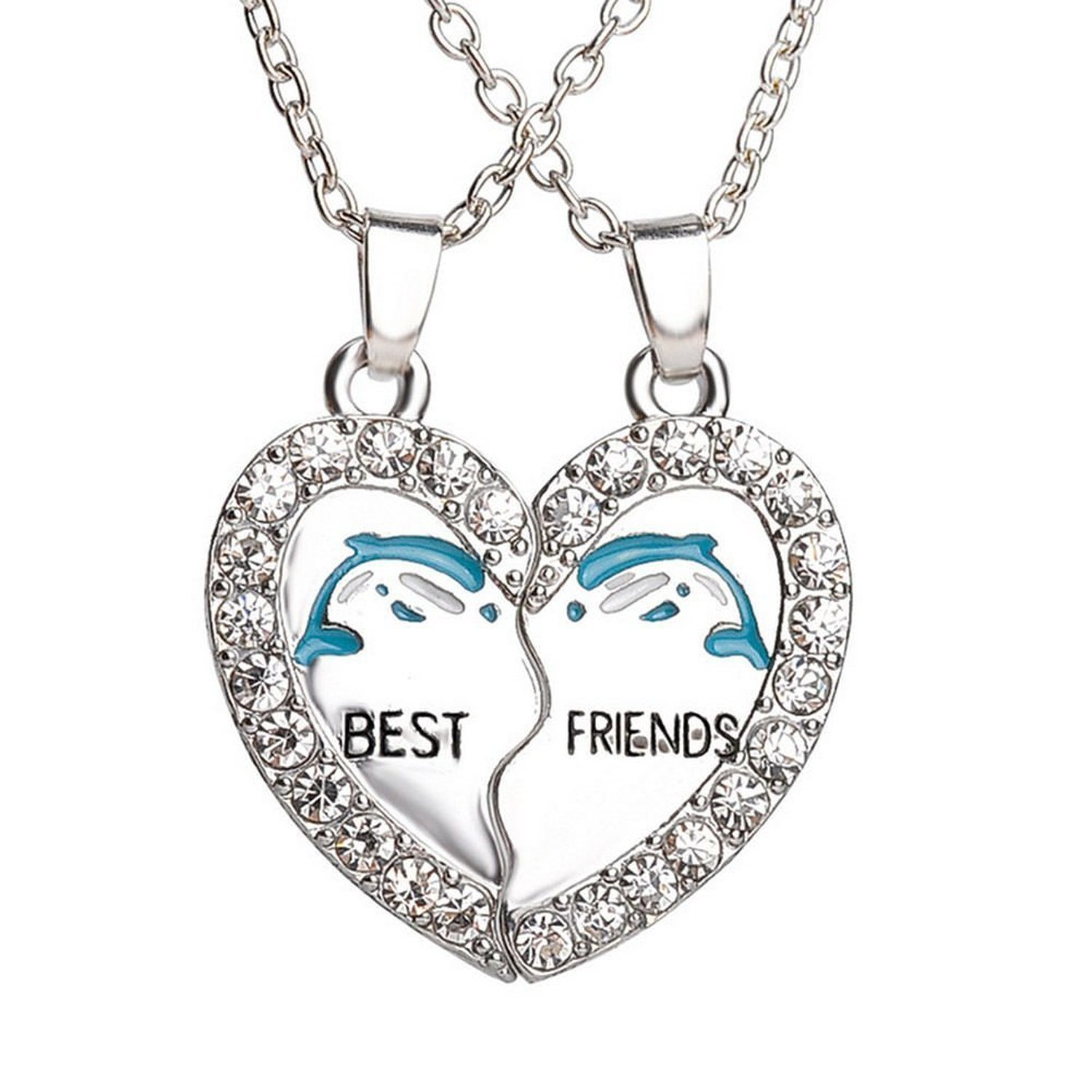 best silver black with and look modish jewellery amazon in lockets chain friends beautiful dp magnetic friend locket
