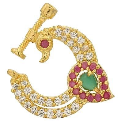 Buy Sasitrends Peacock Design American Diamond/CZ Non