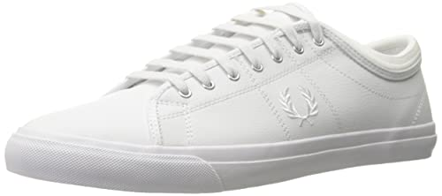 906b3aaf1a Fred Perry Men's Kendrick Tipped Cuff Leather Fashion Sneaker, White/White,  6.5 F