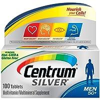Centrum Silver Multivitamin for Men 50 Plus, Multivitamin/Multimineral Supplement with Vitamin D3, B Vitamins and Zinc - 100 Count