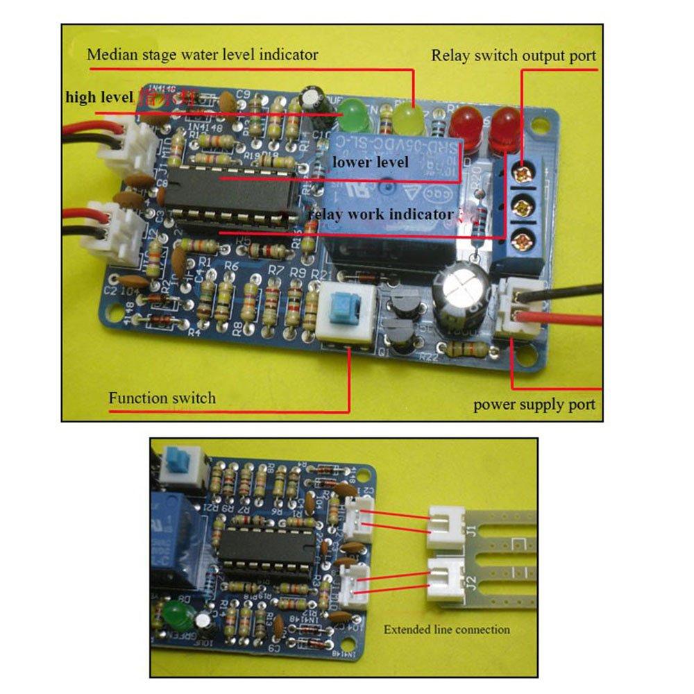 5v Liquid Level Controller Sensor Modul Diy Kits Wasser Circuit For Water Indicator Detection Automatikschalter Baumarkt
