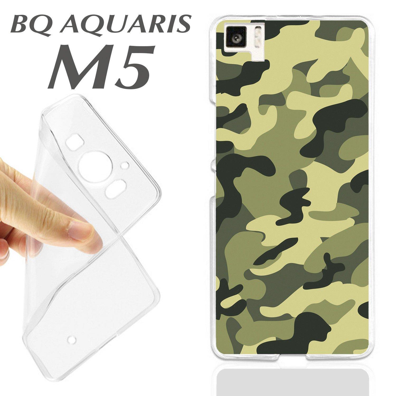 K185 FUNDA CARCASA BQ AQUARIS M5 BLANDA GEL TPU VERDE ...