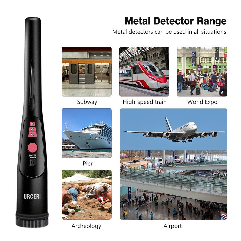 URCERI 1069 Detector de Metales de Alta Precisi/ón 2 Modos de Metal y Disco con Pantalla LCD y luz LED /… Impermeable Accesorios complementarios, Pala, Auriculares y Bolsa de Transporte
