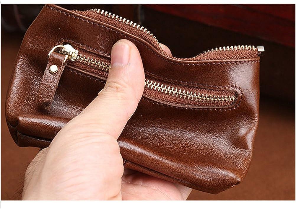 Zhuhaitf Mens Mini Size Money Organizer Zipper Coin Purse Wallet Small Handbag